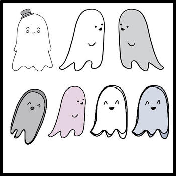 FREE - Halloween Clipart - Ghosts