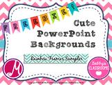 FREEBIE Cute PowerPoint Backgrounds- Rainbow Frames Sample