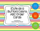 FREEBIE Cute as a Button Colors {ABC Order Cards}