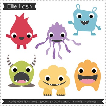 FREEBIE Cutie Monsters Clipart