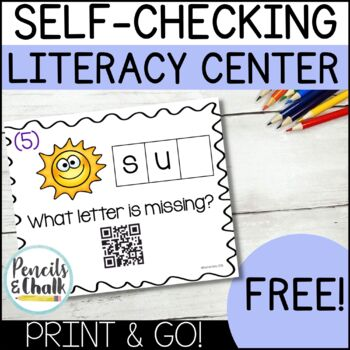 FREE CVC Words Literacy Center | Beginning, Middle, Ending Sounds