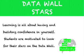 FREEBIE Editable DATA WALL STARS POSITIVE INCENTIVE