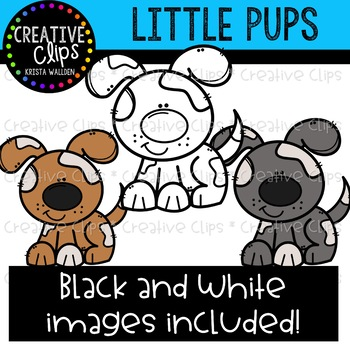 Little Pups Clipart {Creative Clips Clipart}