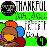 FREEBIE DAY 4: Thankful for You! {Creative Clips Clipart}