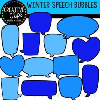 {FREE} Winter Speech Bubble Clipart {Creative Clips Clipart}