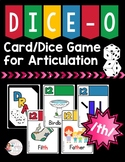 FREEBIE: DICE-O Articulation Card/Dice Game for Speech The