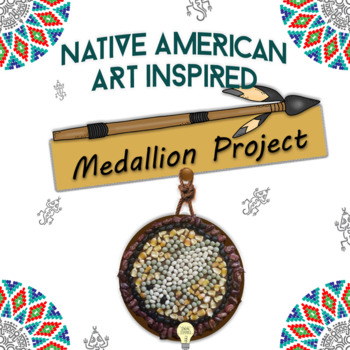 """DOC A """"medallion"""" inspired by the symbols of Native Americans Editable"""