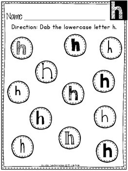 FREEBIE!!! Dabbing Upper and Lower Case Letters