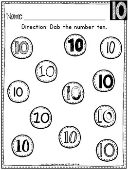 FREEBIE!! Dabbing Numbers 0-20