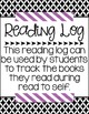 FREEBIE - Daily 5 Reading Log