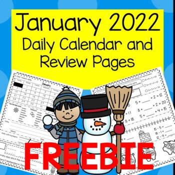 FREEBIE Daily Calendar and Review January 2018