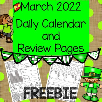 FREEBIE Daily Calendar and Review March 2018