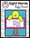 Easter Daily 5 Word Work for Kindergarten: Sight Word Egg Hunt