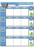 FREEBIE!! Daily Homework Assignment Sheet