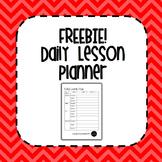 FREEBIE! Daily Lesson Plan