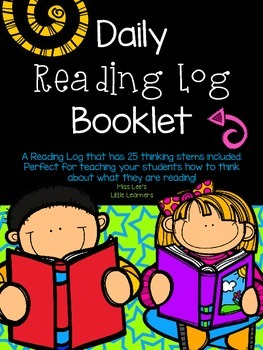 ***FREEBIE*** Daily Reading Log Booklet