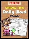 FREEBIE: Daily Word Power (Spring Vocabulary)