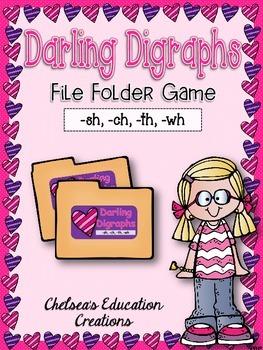 {FREEBIE} Darling Digraphs File Folder Game