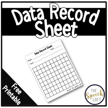 FREEBIE | Data Record Sheet