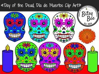 FREEBIE Day of Dead, Sugarskulls. Día de Muertos Calaveras