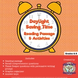 FREEBIE Daylight Saving Time Reading Passage and Activities