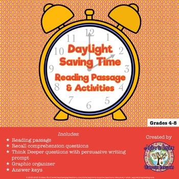 FREEBIE Daylight Saving Time Reading Passage and Activities