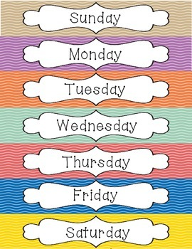 FREEBIE: Days of the Week Poster