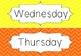 FREEBIE Days of the Week Posters - Chevron