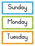 FREEBIE - *Days of the week word cards*