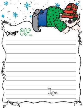 Dear Elf Letter template *Freebie*