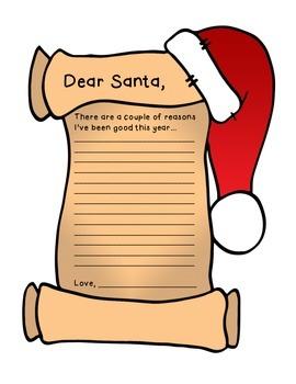 FREEBIE Dear Santa Letter
