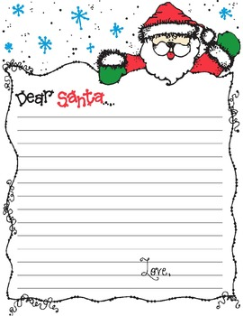 Dear santa letter template 2 versions freebie by for Dear santa template kindergarten letter