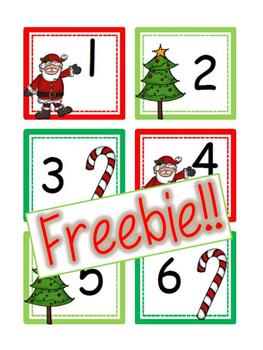 FREEBIE December Christmas Calendar Cards {ABC Pattern}