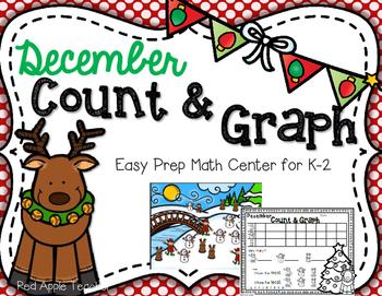 FREEBIE--December Count & Graph--Math Center for K-2