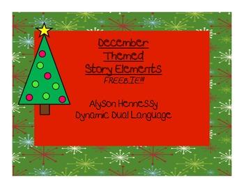 FREEBIE!! December Graphic Organizers