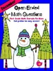 FREEBIE! December Open-Ended Math Question for Journals or Do-Nows (First Grade)