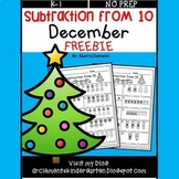 FREE DOWNLOAD : December Subtraction from 10