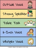 FREEBIE! Decibella Voice Levels Mini-Poster