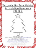 {FREEBIE} Decorate the Tree Holiday Articulation Homework