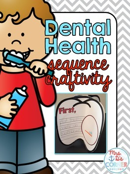 Dental Health Month Sequencing Craftivity { for Special Needs }