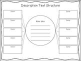 FREEBIE! Description Text Structure Graphic Organizer