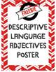 FREEBIE Descriptive Language Vocab Poster