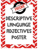 FREEBIE Descriptive Language Vocab Poster