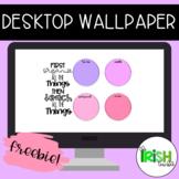 FREEBIE! Desktop Organizer Wallpaper