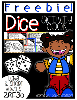 FREEBIE! Dice Activity Book for Long and Short Vowels {2.RF.3a}