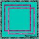 Dice Borders ~ Square & Rectangle ~ White & Transparent Ba