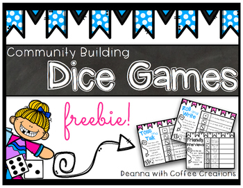 FREEBIE! Dice Games to Build Classroom Community