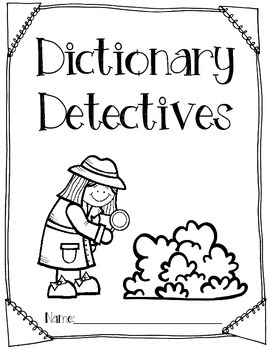 FREEBIE- Dictionary Detectives
