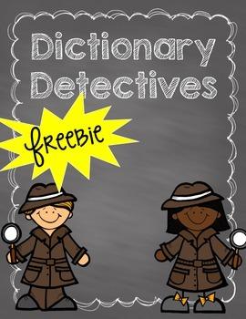 FREEBIE- Dictionary Detectives