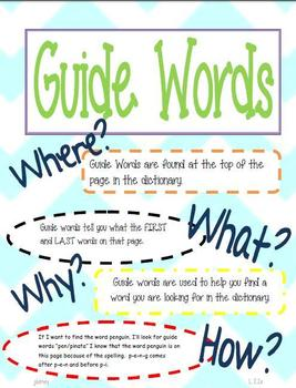 FREEBIE! Dictionary Skills Posters